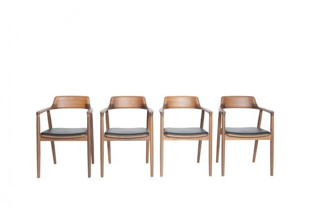 hiroshima set sedie maruni